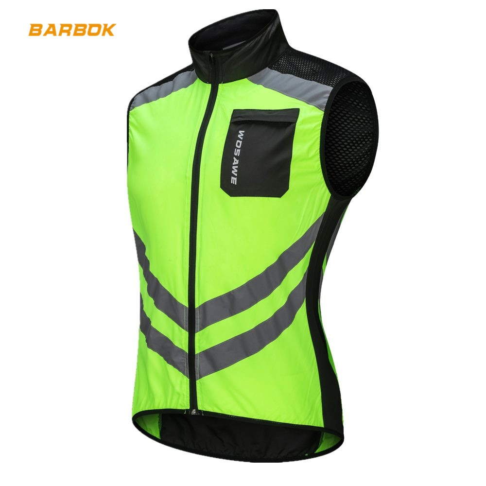 WOSAWE chalecos reflectantes para motocicleta sin mangas a prueba de viento Chaquetas deportivas impermeables MTB Road Biker ropa abrigo Motocross chaquetas