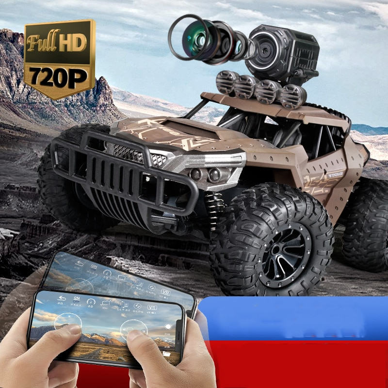 RC Cars 1:18 Off-Road RC Racing Car TPR 2.4GHz Steering High Speed RC Racing Cars WITH camera 720p Kids Trucks Best gift enlarge