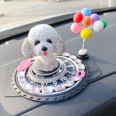 Taladro interior en un columpio coche batidos perro dentro creativo adorable Perfume fragancia estatuas escultura hogar boda decoración muere