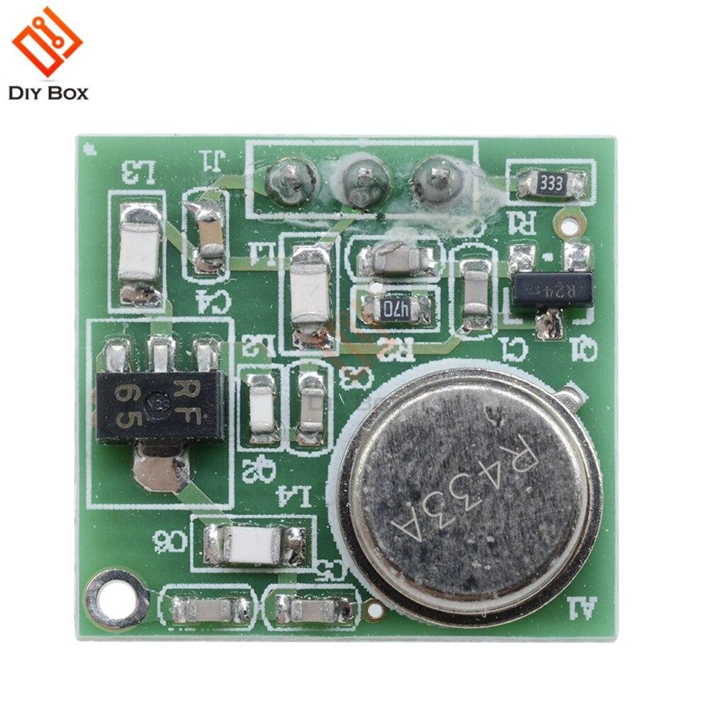 Prático dc 9 v-12 v sem fio módulo transmissor de placa fm ZF-4 433.92 mhz # p 433 mhz transmissor de módulo fm sem fio