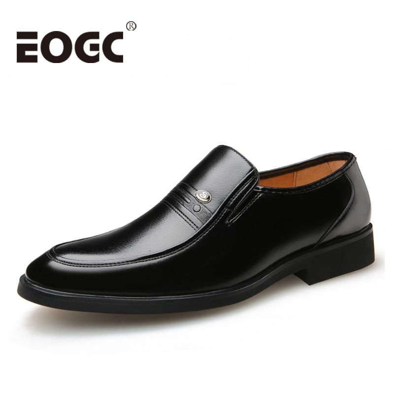 Large Size 46 Black formal shoes men Dress Shoes Genuine Leather shoes men Fashion Business Oxford Shoes for Men shoes leather