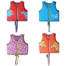 Megartico Kids Life Jacket Shark Dinosaur Swim Trainer Vest Adjustable Safety Strap Baby Buoyancy Ch
