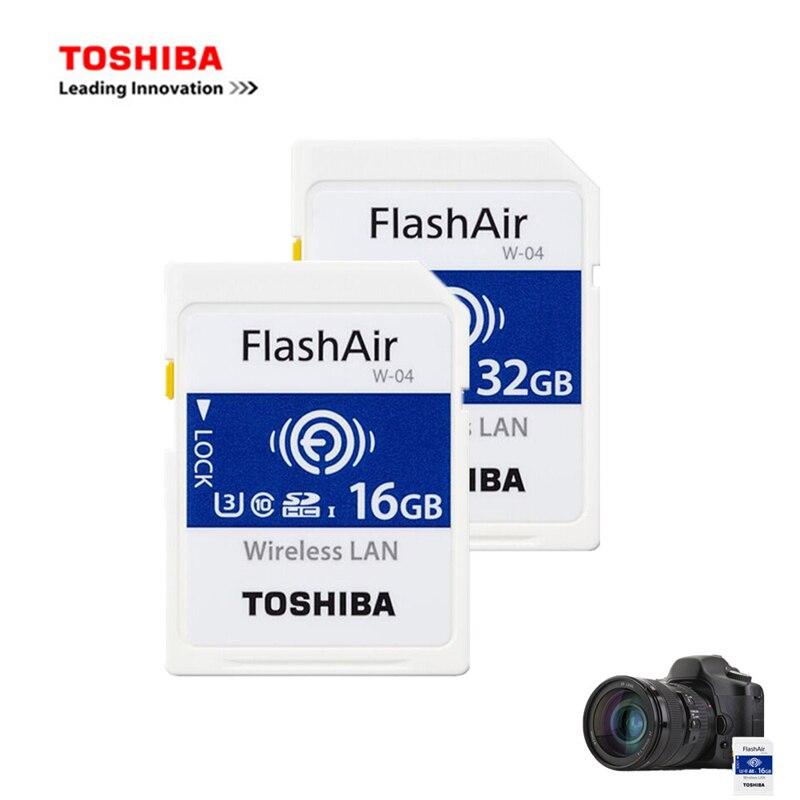 Toshiba 16 GB/32 GB/64 GB tarjeta Micro SD Flash Air 4ª generación inalámbrica LAN integrado SDXC tarjeta de memoria U3 Class10 Cámara dedicada