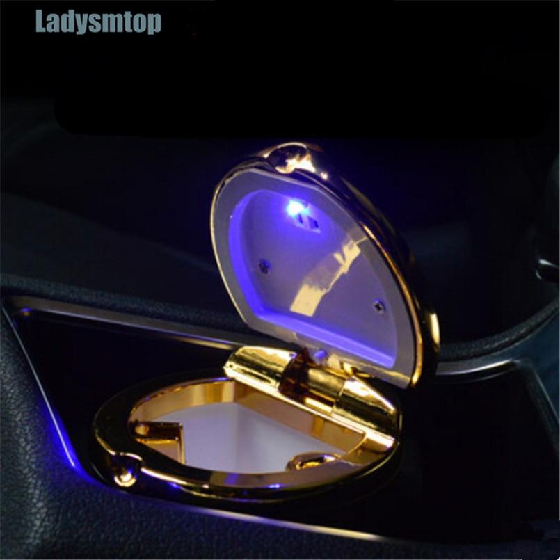Ladysmtop Car Ashtray with LED Blue Light Case For HAVAL all Model H3 H5 H6 H7 H8 H9 H8 M4 SC C30 C50 WEY