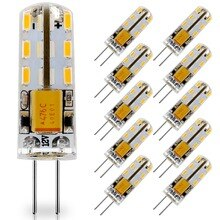 10 paket G4 LED ampul 12V AC DC LED G4 lamba 24LED yerine 10W T3 JC halojen ampuller sıcak beyaz 3000K doğal beyaz 4000K 6000K