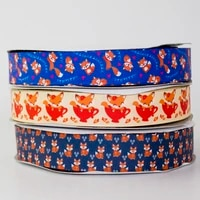 38mm fox decorations grosgrain ribbon hair accessories ribbon headwear hair bow diy party decoration