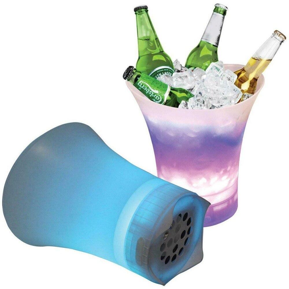 Nuevo altavoz de cubo de hielo para playa al aire libre IPX7, altavoces inalámbricos impermeables, Radio FM, Altavoz Bluetooth de potencia móvil