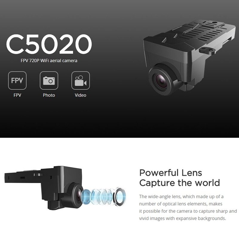 MJX RC Cámara C5020 5,8G WIFI 720P FPV cámara para MJX Bugs 3 Racing Drone RC Quadcopter Drone RC repuestos