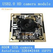 البسيطة مراقبة كاميرا HD 8MP AF أوتوفوكس سوني IMX179 3264*2448 15FPS الصوت دعم وحدة كاميرا بمنفذ USB ويندوز الروبوت لينكس
