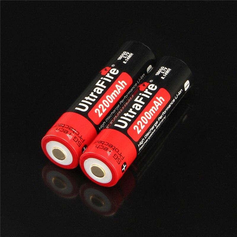 Ultrafire 18650 аккумулятор большой емкости 2200 мАч 3,7 в литий-ионный аккумулятор de liio para las baterias de la linterna