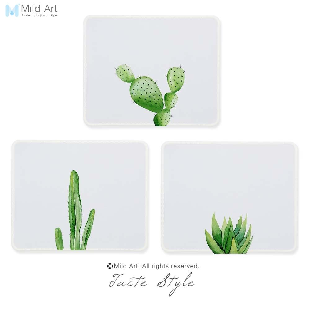 Verde acuarela Cactus, estilo nórdico, impresión personalizada niños creativos regalos Gamer Juegos de PC alfobrilla de ratón ordenador conjunto tapete