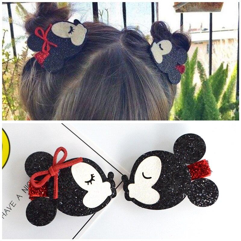 ¡2019! bonitas orejas de Minnie Mouse, pinzas para el pelo para niñas y niños, accesorios para lazo para pelo infantil, horquillas para el pelo, tocado