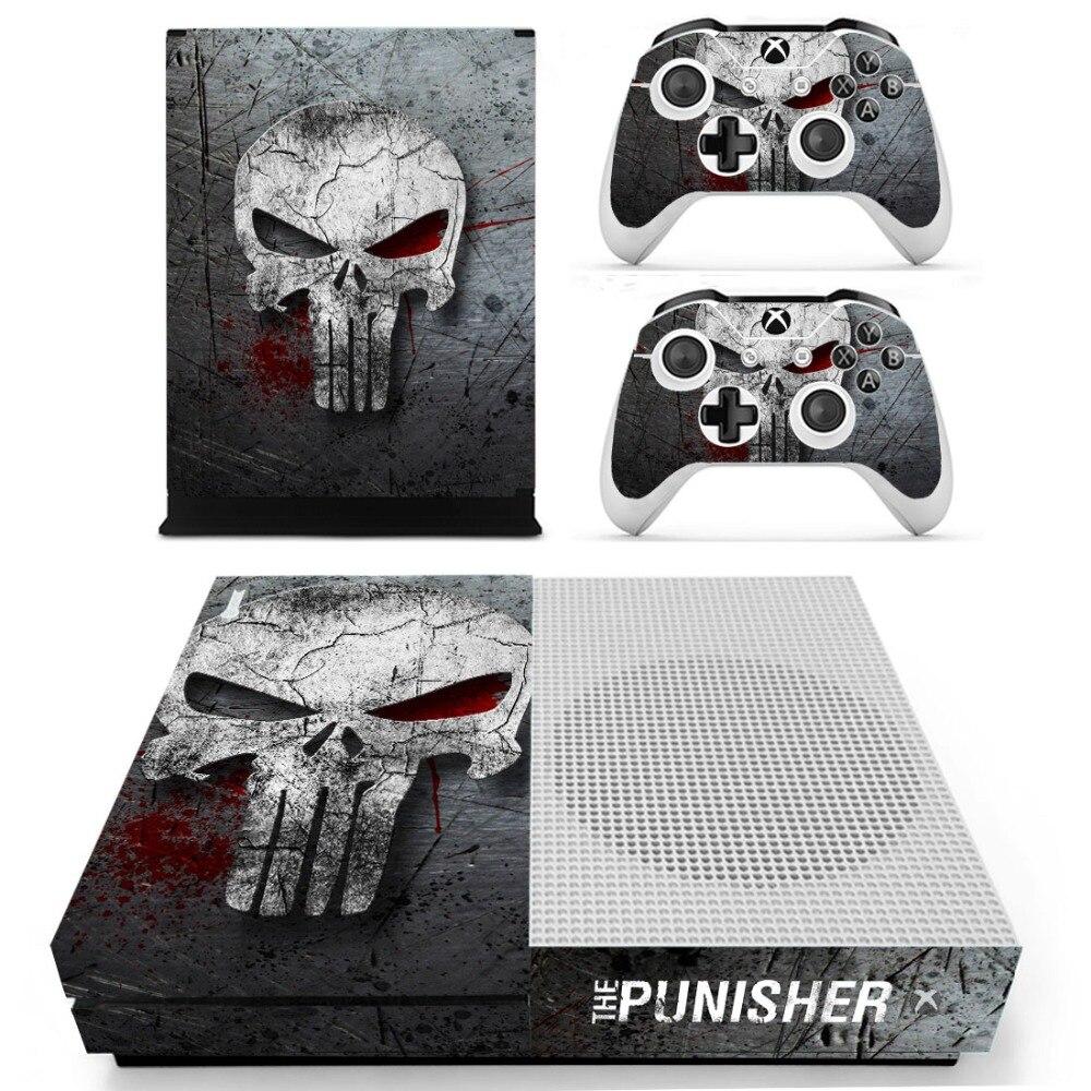 The Punisher Decalque Adesivo de Pele Para Xbox One S Console e Controladores para Xbox Uma Pele Adesivos de Vinil Fino