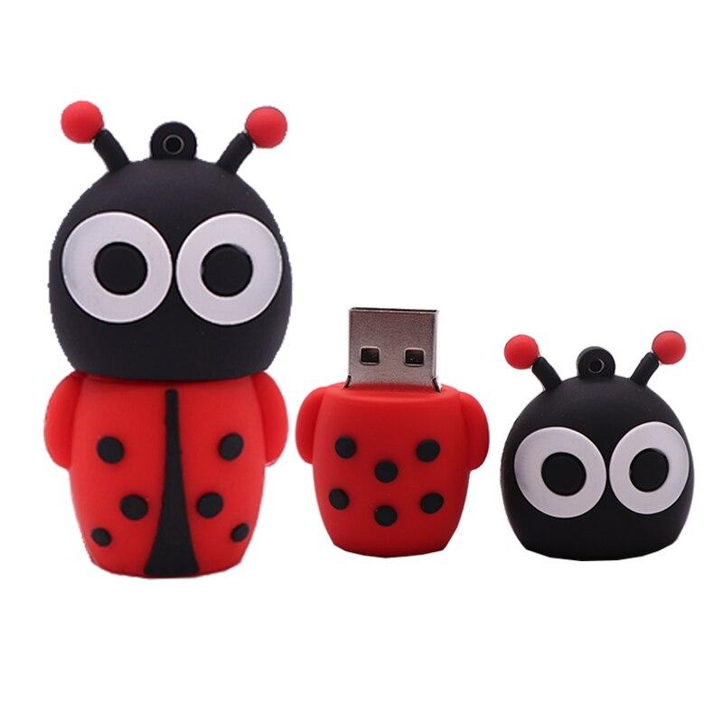 Memoria USB de 4GB, 8GB, 16GB, 32GB, 64GB, 128GB, diseño de mariquita,...