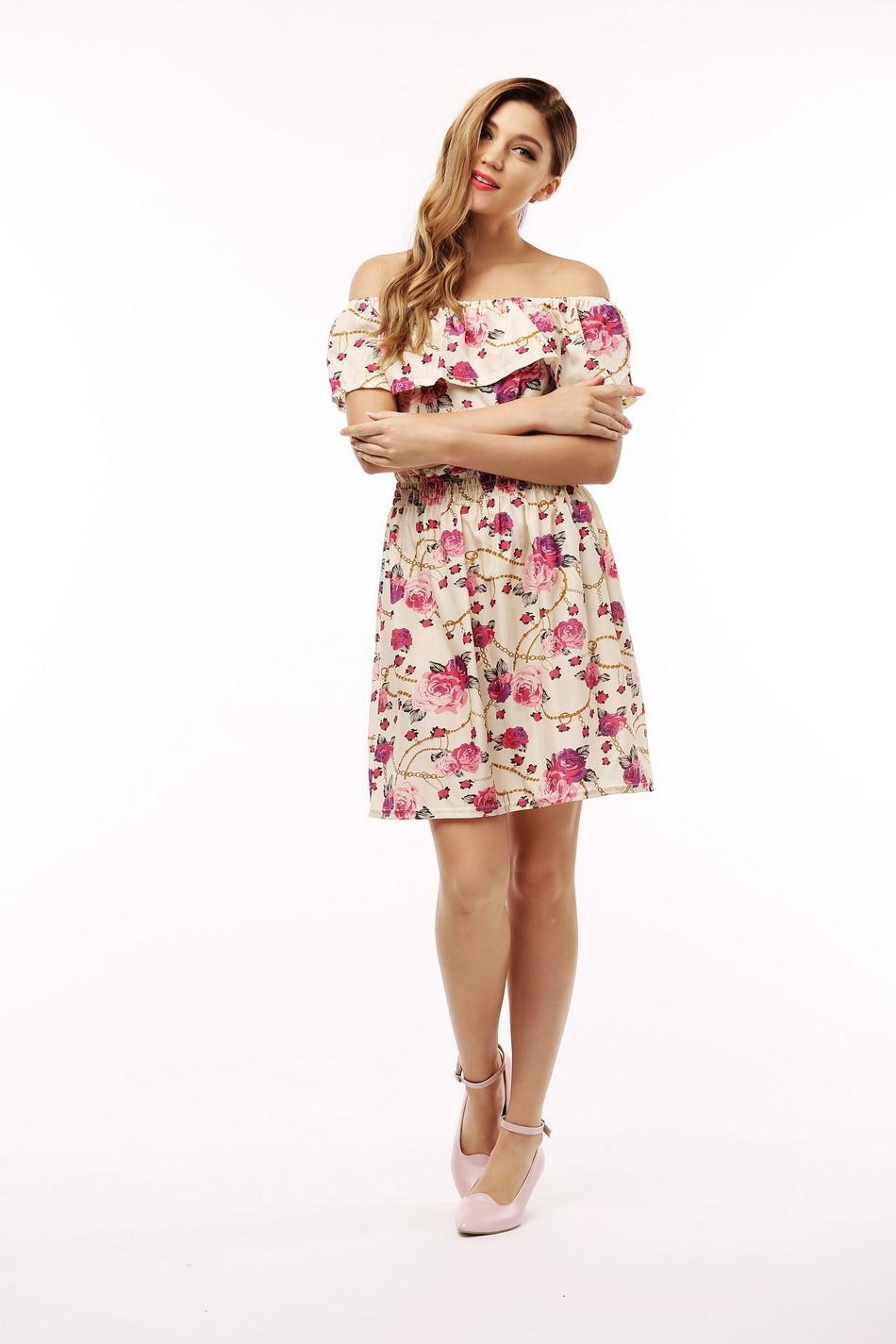 2017 fashion nowa wiosna lato plus size odzież kobiet floral print wzór sukienki na co dzień vestidos wc0472 13