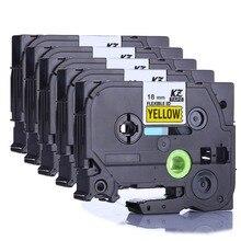 CIDY hermano compatible 18mm tze cinta adhesiva flexible cintas tze-FX641 tze FX641 tz FX641 tz-FX641 para brother P-touch impresora