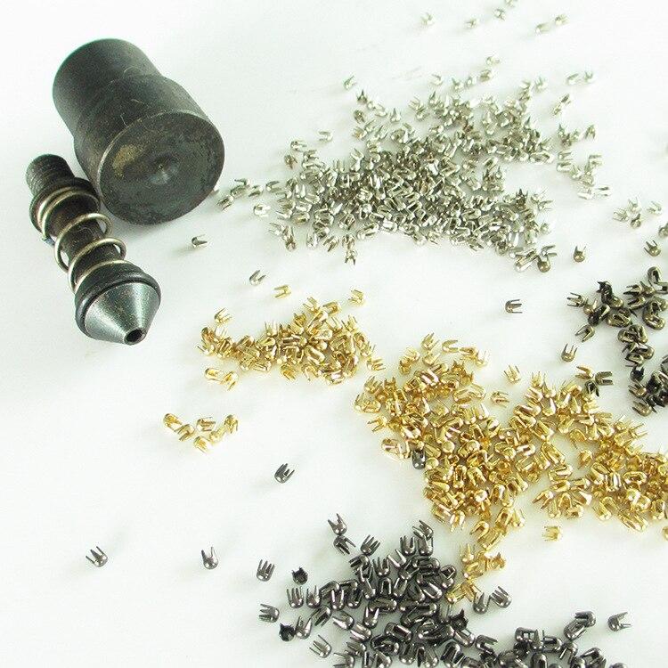 De Metal MATERIAL DE LATÓN punk redondo remache de Punta pendientes punta puntas muere molde herramientas de cuero bolsas para manualidades ropa cinturones