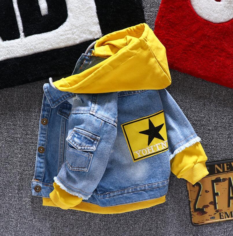 Джинсы для мальчиков и девочек, детские джинсы, пальто, детская одежда на весну и осень, спортивная одежда с капюшоном для мальчиков и От 1 до ...