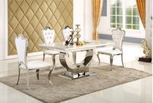 Ensemble de salle à manger en bois massif mobilier de maison table à manger en marbre moderne minimaliste et 6 chaises