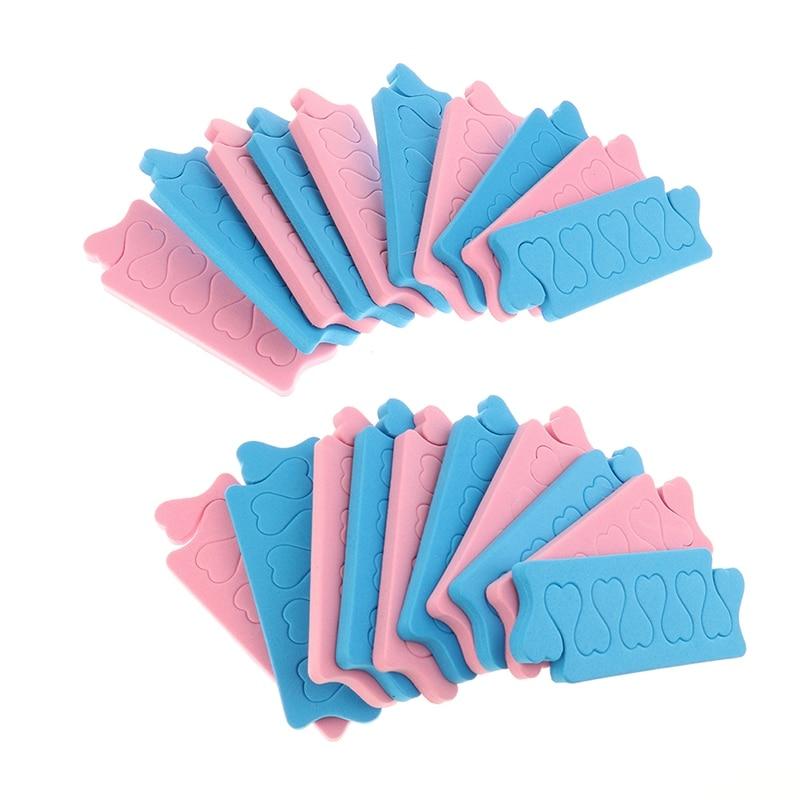 20 pièces soins des pieds souples manucure pédicure Flexible UV Gel vernis revêtement mousse éponge séparateur dorteils séparateur de doigts outils dart des ongles