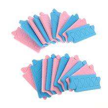 20pcs Zachte Voeten Care Manicure Pedicure Flexibele UV Gel Polish Coating Foam Spons Teen Scheidingsvinger Separator Nail Art gereedschap