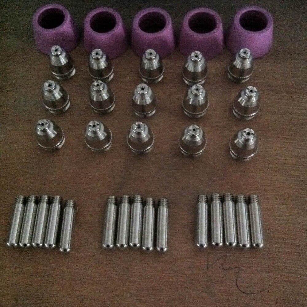 35 pces, ag60 sg55 consumíveis, SG-55 ag-60 peças da tocha de corte, para o cortador do plasma (sg 55 ag 60)