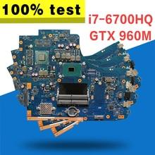 GL752VW pour carte mère ASUS GL752V GL752VL GL752VY GL752VS i7-6700HQ carte mère GTX 960M/2GB avec GDDR5 VRAM 100% testé
