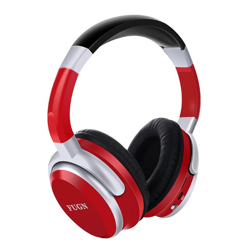 FUGN Bluetooth Stereo auriculares inalámbricos Bluetooth 4,2 auriculares plegables diseño incorporado micrófono manos libres MP3 player