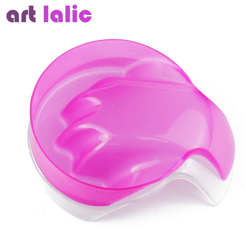 Artlalic 1pc Pink Clear Nail Art Hand Wash Remover Soak Bowl Salon Glitter Nail Spa Bath Treatment M