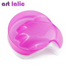 Artlalic 1 pièce rose clair Nail Art main lavage dissolvant tremper bol Salon paillettes ongles Spa bain traitement manucure soin bol