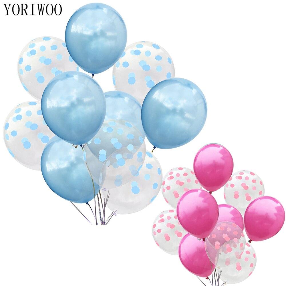 YORIWOO 10 stücke Polka Dot Latex Ballon Luft Glücklich Geburtstag Ballon Baby Dusche Junge Mädchen Ballon Hochzeit Party Dekoration Shower