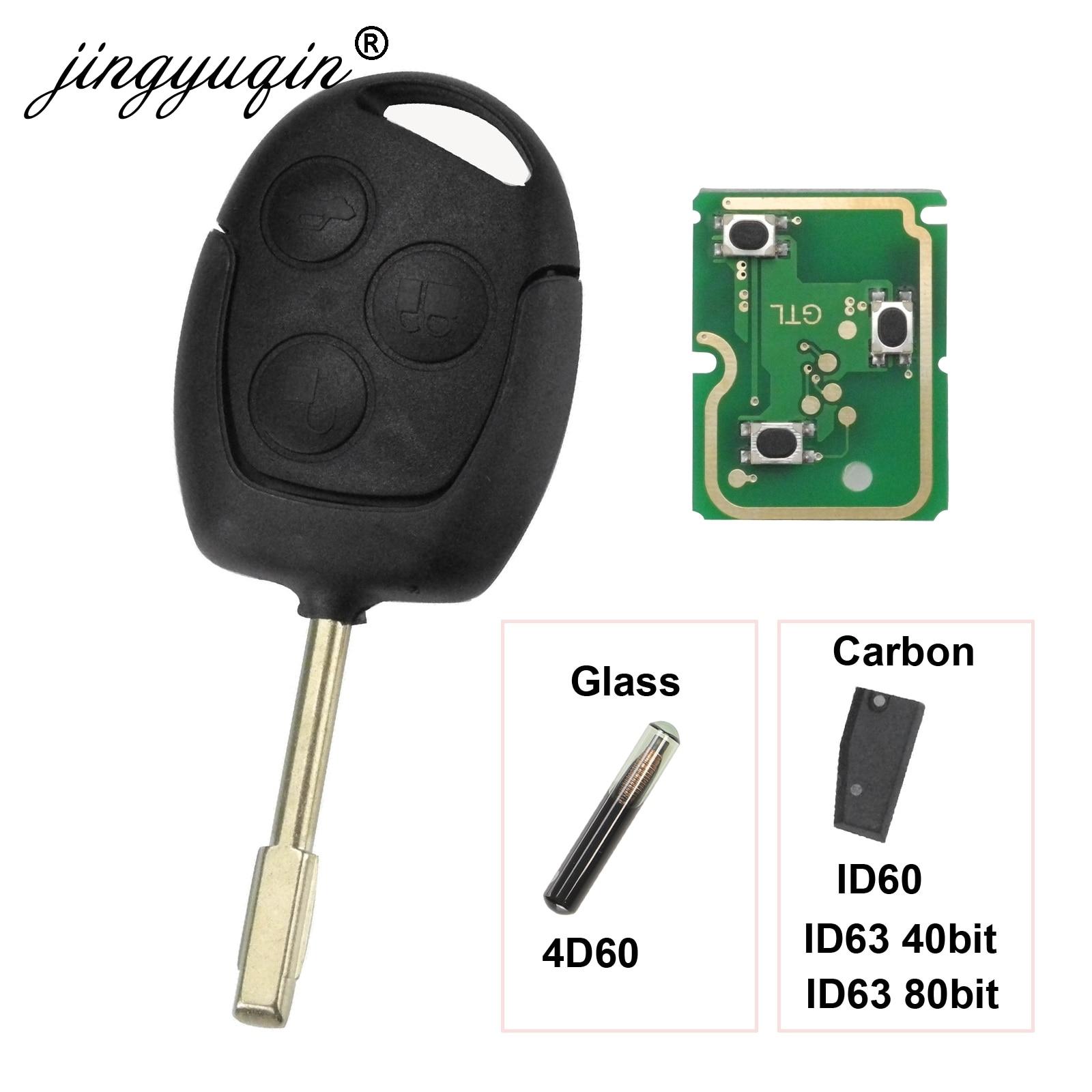Jingyuqin 3 кнопки дистанционного ключа Fob 315 МГц 433 МГц 4D60 ID63 чип для Ford Mondeo Focus Fusion Fiesta Galaxy Transit Полный Автомобильный ключ