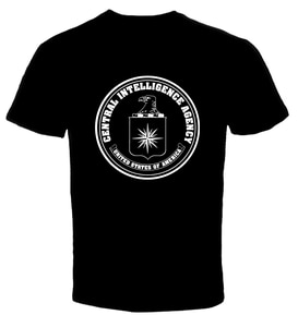 Central Intelligence Agency CIA 1 Men  T Shirt hip hop