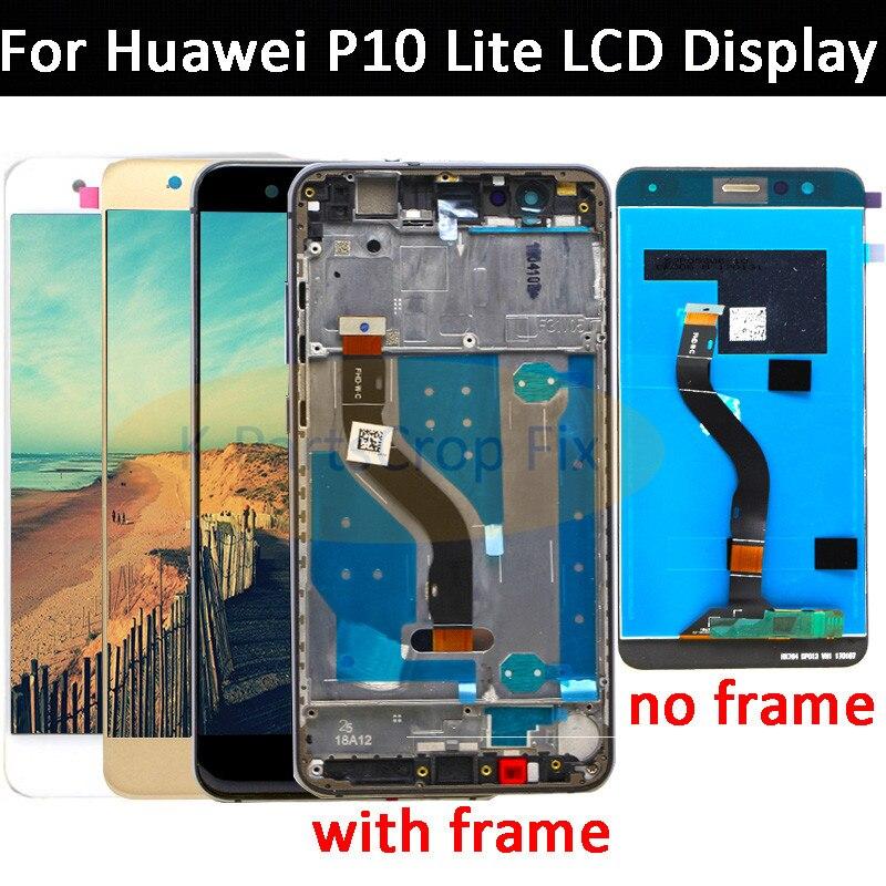 5.2 AAA Qualidade LCD Com Frame Para O HUAWEI P10 Polegada Lite Lcd Screen Display Para HUAWEI P10 Lite WAS-LX1 WAS-LX1A WAS-LX2 WAS-LX3