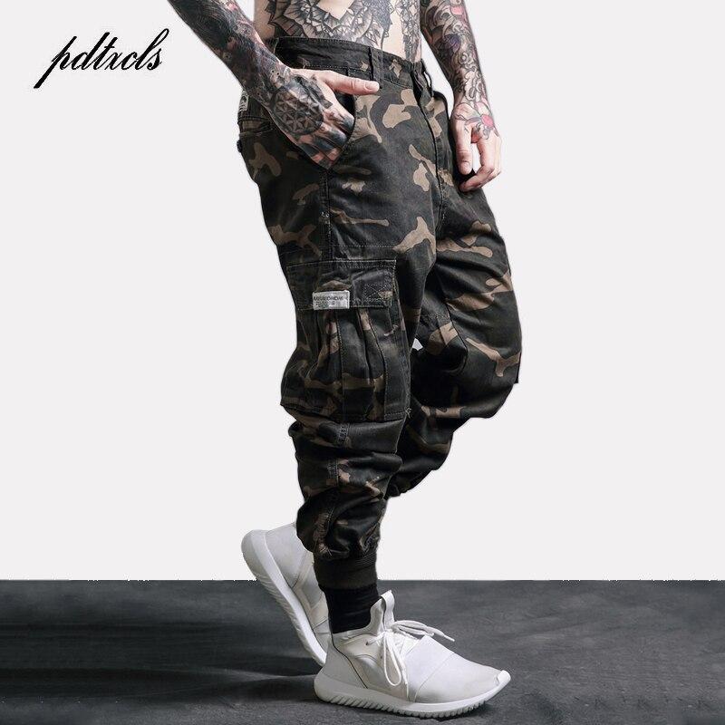 Брюки-карго мужские, камуфляжные, с карманами, в стиле милитари, в стиле хип-хоп, повседневные, свободные, черные