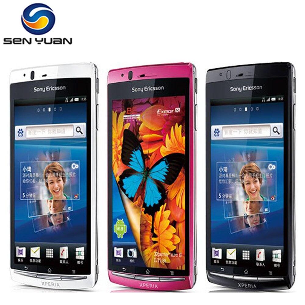 Teléfono móvil Sony Ericsson Xperia Arc S LT18i, 100% Original libre, 3G, wi-fi, pantalla táctil de 4,2 pulgadas, cámara de 8,0 MP, Android