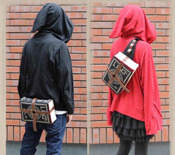 Men women notebook shape Casual Back bag Travel Teenager Student back to School Notebook Laptop book schoolbag