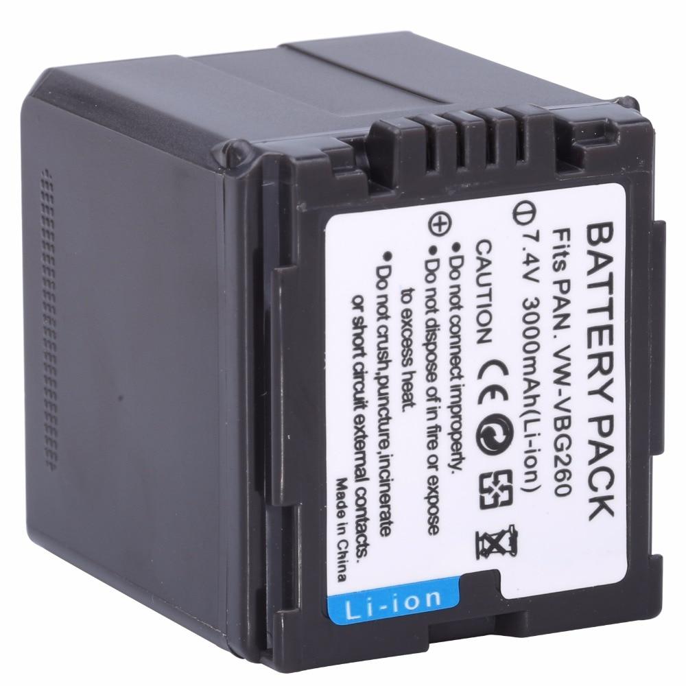 Bateria de probty VW-VBG260 vw vbg260 vwvbg260 para panasonic AG-AC7 AG-AF100 HDC-HS250 hs300 hs700 sd600 sd700 sdt750 tm300 tm700