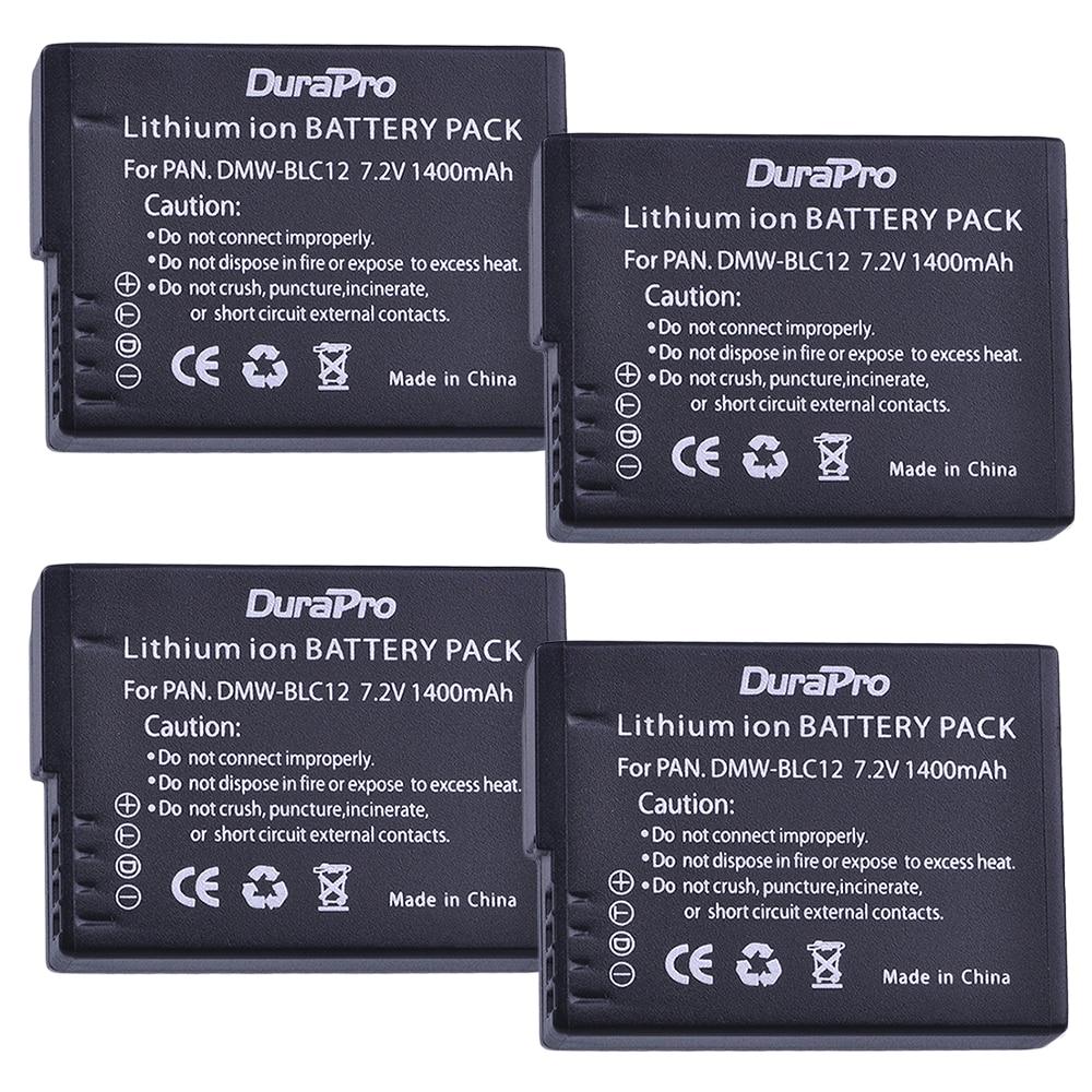 4x1400mAh DMW-BLC12 DMW BLC12 BLC12PP BLC12E cámara de reemplazo de la batería...