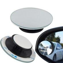 2 stücke Auto 360 Grad Framless Blind Spot Spiegel Weitwinkel Runden Konvexen Spiegel Kleine Runde Seite Blindspot Rück Parkplatz spiegel