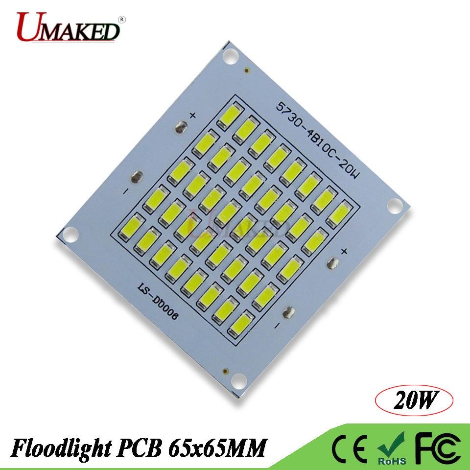 Full watt SMD 5730 LED PCB Floodlight lamp plate 20W 2000lm DC20-39V 600mA SMD cob aluminum plate base Borad for Spotlight light