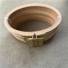 Novo 10 pçs/lote 16*10cm madeira oval bordado aro elipse quadro de madeira arte artesanato bordado ferramentas diy ponto cruz hoop