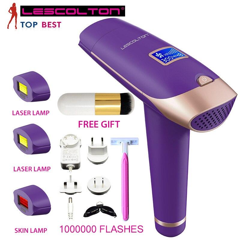 LESCOLTON 4IN1 Laser Hair Epilator LCD Display Depilador Permanent Hair Removal Device Laser Home 1000000 Light Pulses Epilator enlarge