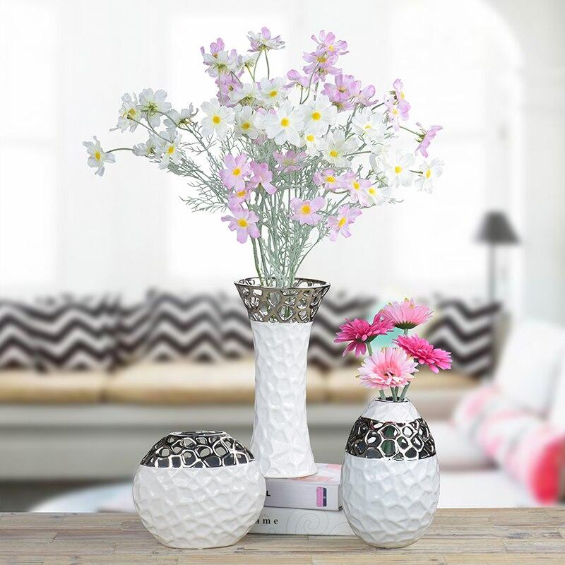 Water Cube Flower Vase Porcelain Creative Modern Simple Hydroponic TV Cabinet Decoration Vase For Simulation Dry Flower