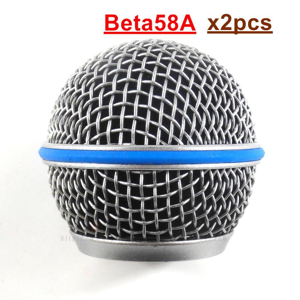 Brisas 2 pcs qualidade Microfone Escudo Acessórios de Malha De Cobre Bola Head Grill 58A Para Handheld Microfone Sem Fio Beta