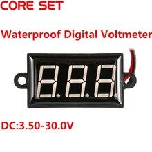 """0.56 """"Mini Voltímetro Digital DC3.5-30V Variável de Precisão Medidor de Tensão À Prova D' Água LED Vermelho Auto Truck Car Veículos Motor Voltage"""
