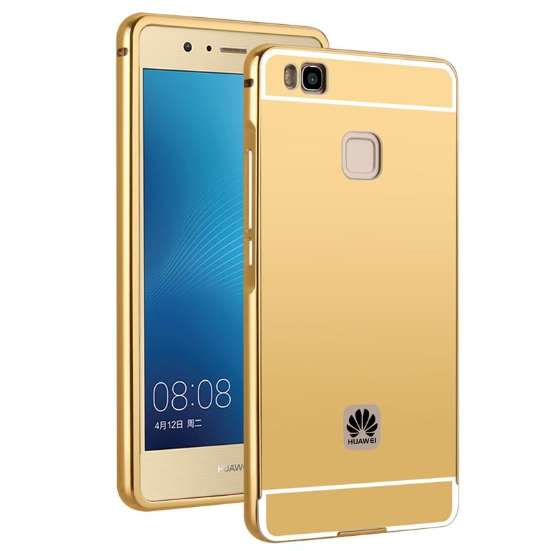 MAKAVO Mirror Cover Metal Frame Phone Case For Meizu M5 Note M5S P8 lite 2017 Honor 9 Lite 7X Mate 10 Pro Nova 2i 2s P20