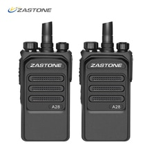 2 uds 10km de Radio profesional 10W Walkie Talkie UHF 400-480MHz Radio de dos vías jamón transceptor HF Comunicador telsiz Zastone A28