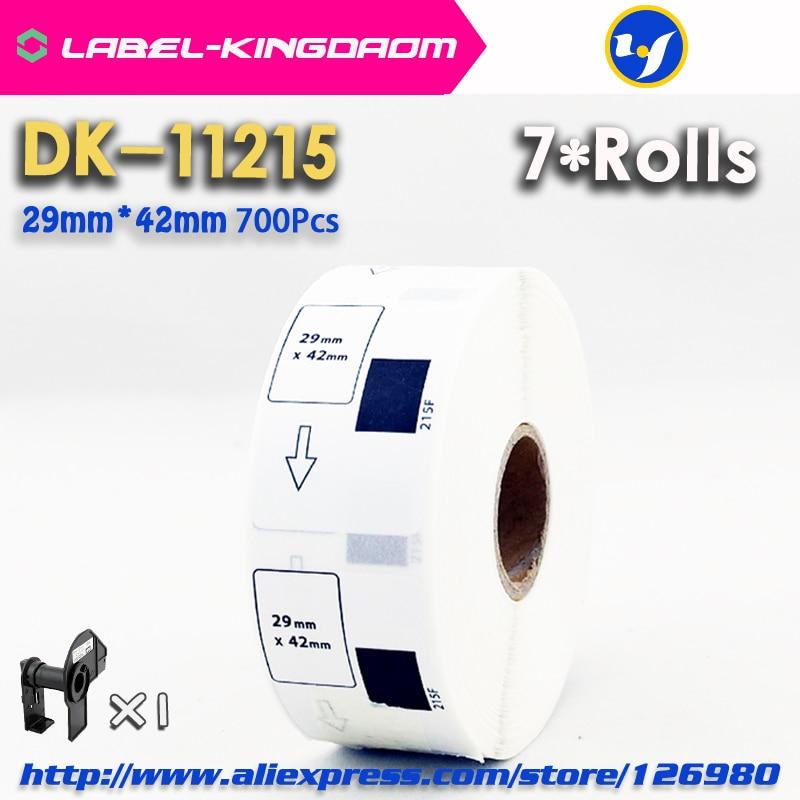 7 لفات الملء متوافق DK-11215 التسمية 29 مللي متر * 42 مللي متر 700 قطعة متوافق مع طابعة الملصقات Brother QL-700/720 ورقة بيضاء DK-1215