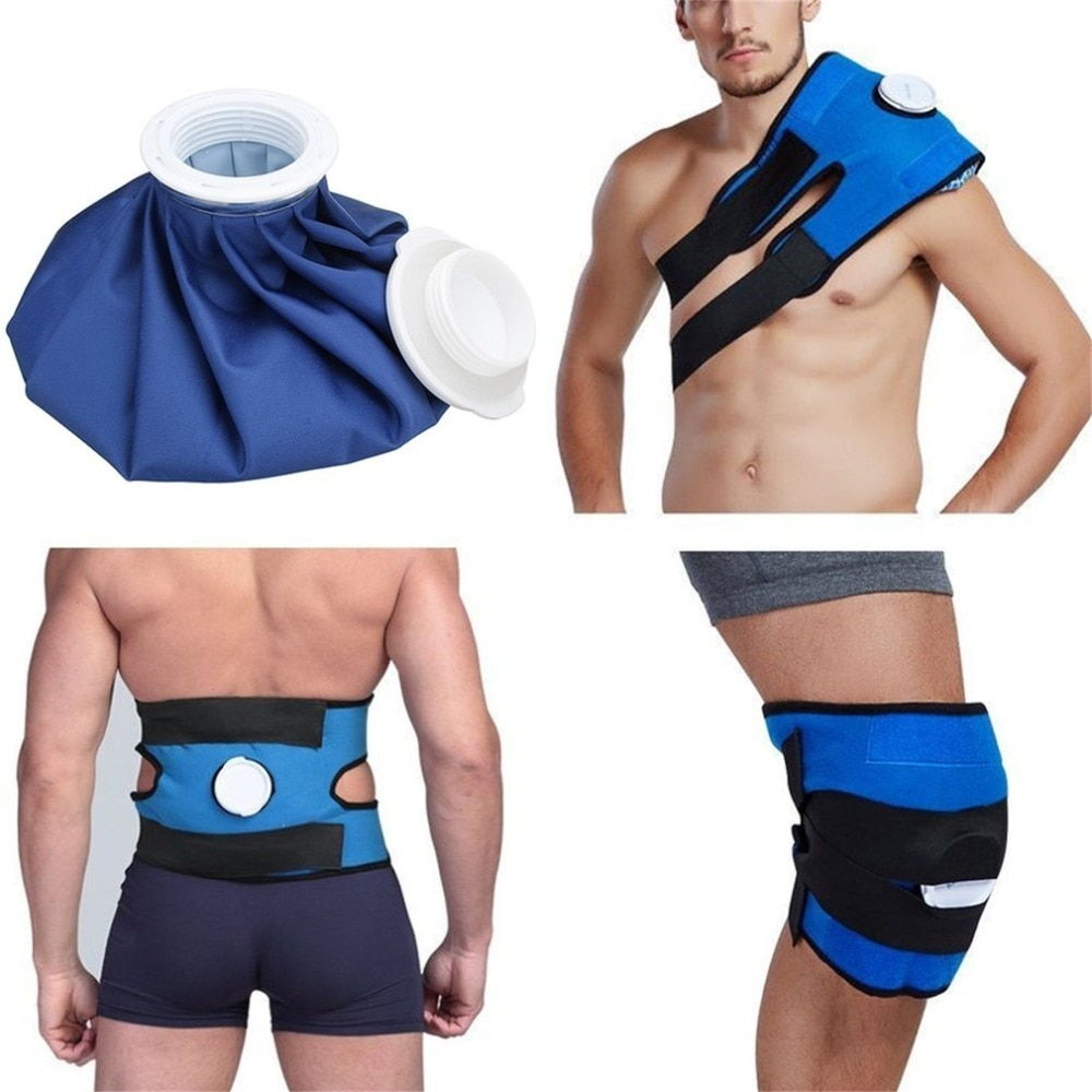 Bolsa de hielo reutilizable para el alivio de heridas, para el deporte, para el cuidado de la salud, para la rodilla y la pierna, con vendaje de emergencia
